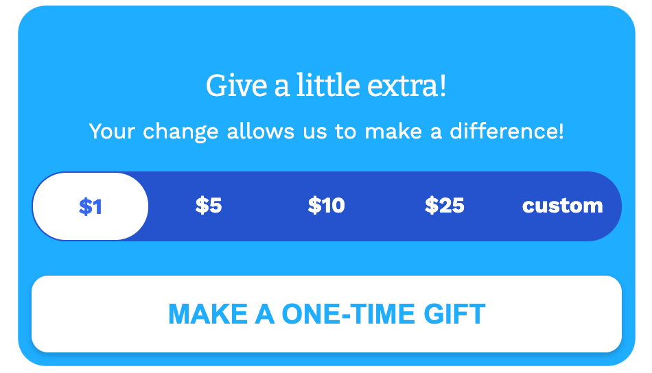 One-time gift option in-app